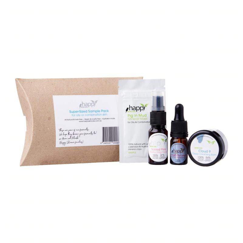 Buy Happy Skincare Super-Sized Sample Pack for Oily and Combination Skin Singapore