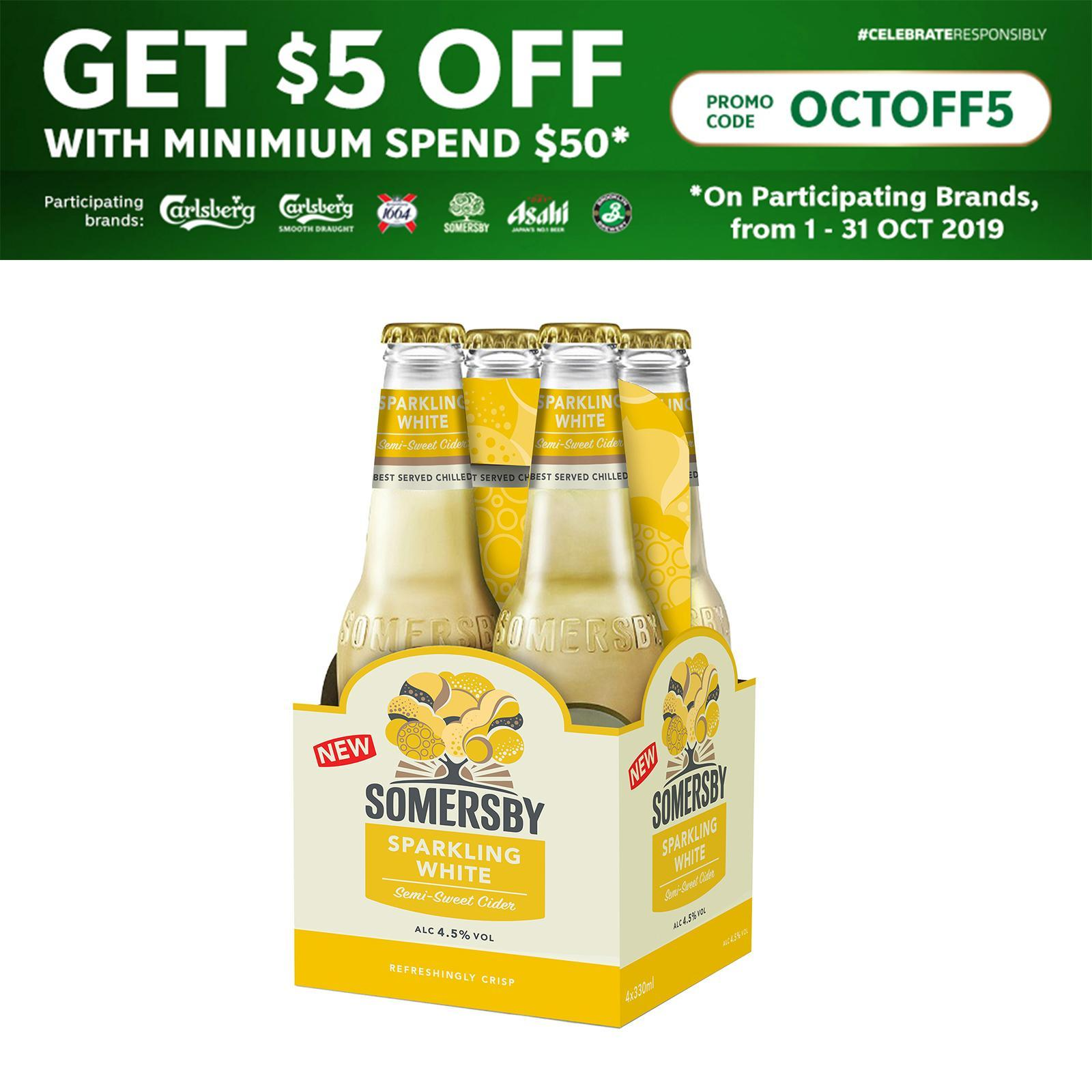 Somersby Sparkling White Cider 4x330ML