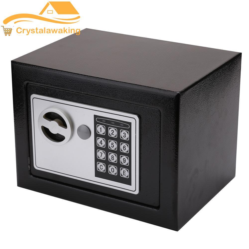 Portable Safe Box Password Lock Mini Jewelry Cash Card Storage Boxes