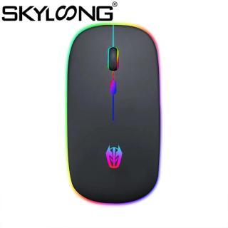 Skyloong Chuột Bluetooth Không Dây Im Lặng Tiện Dụng Có Thể Sạc Lại Phát Sáng A5 2.4GHz 1600DPI, Dành Cho Máy Tính thumbnail