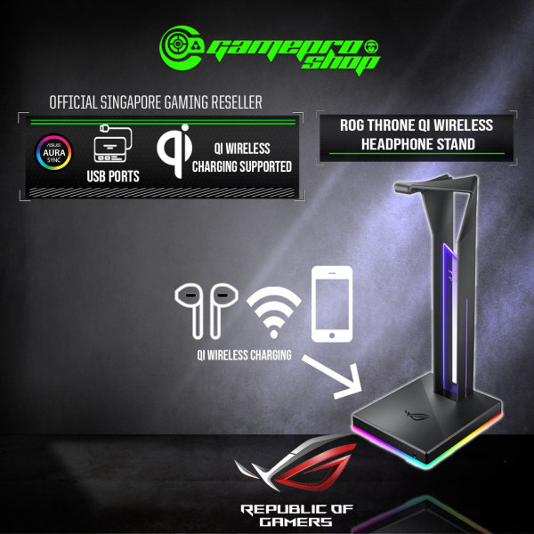 ASUS ROG THRONE QI with Wireless Charging (Headset Stand) (2Y)