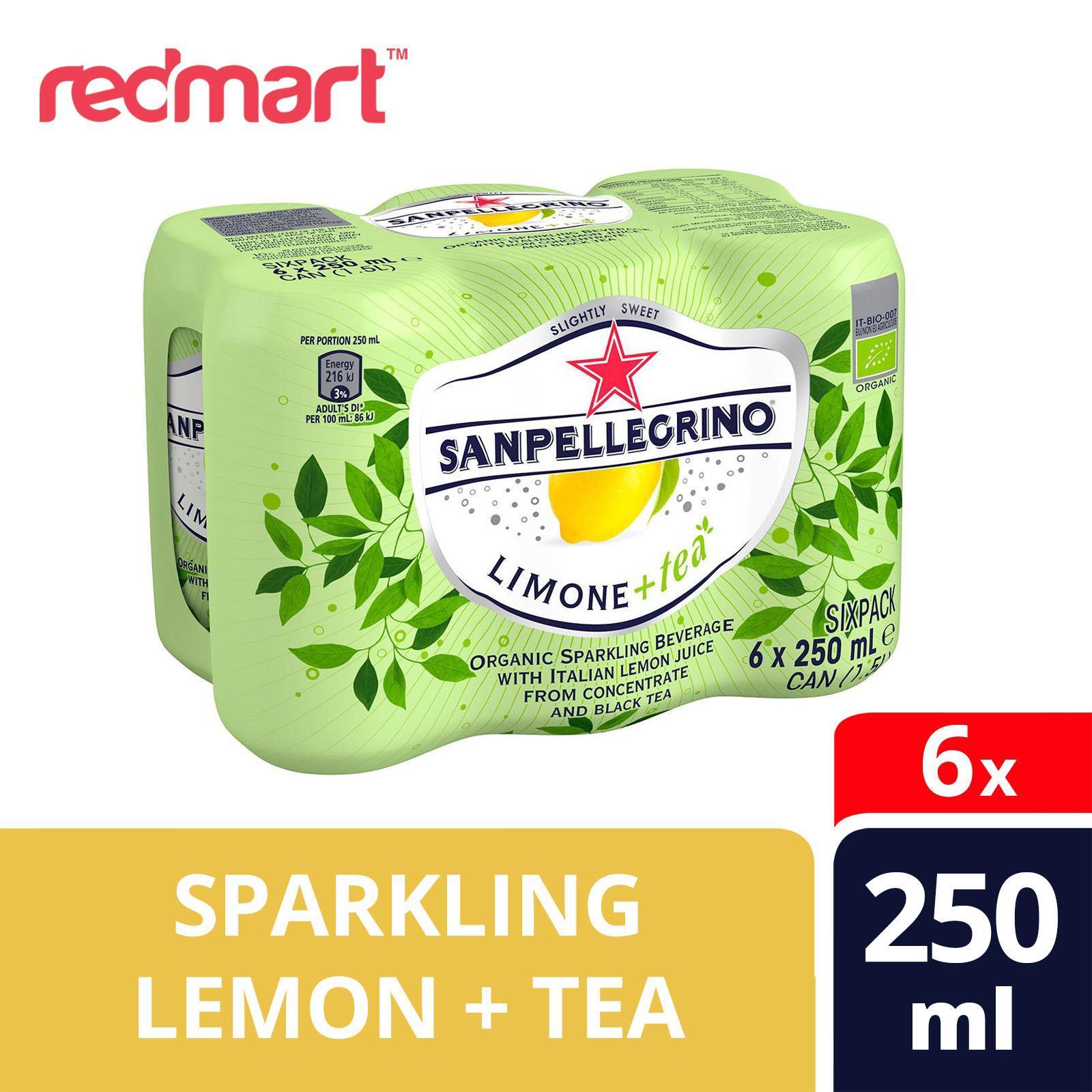 San Pellegrino Limone+Tea Organic Sparkling Lemon Tea Beverage - 6s Pack