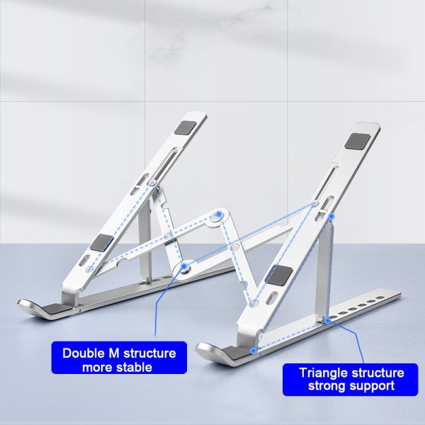 Portable Folding Laptop Stand Adjustable Notebook Stand Holder For Macbook Laptop Aluminum Alloy Computer Cooling Bracket