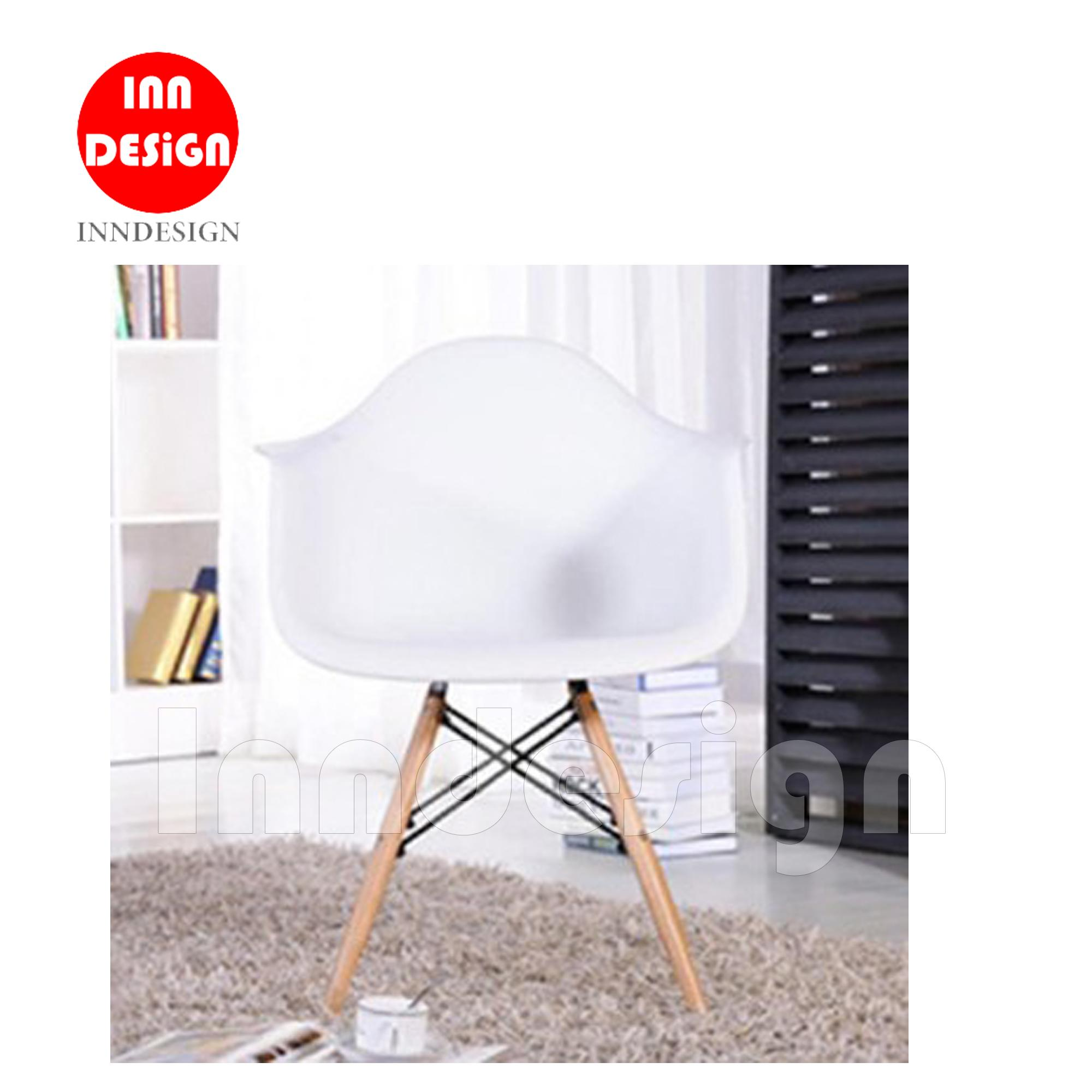 Eames Anthony II Dining Chair / Office Chair (Black / White)