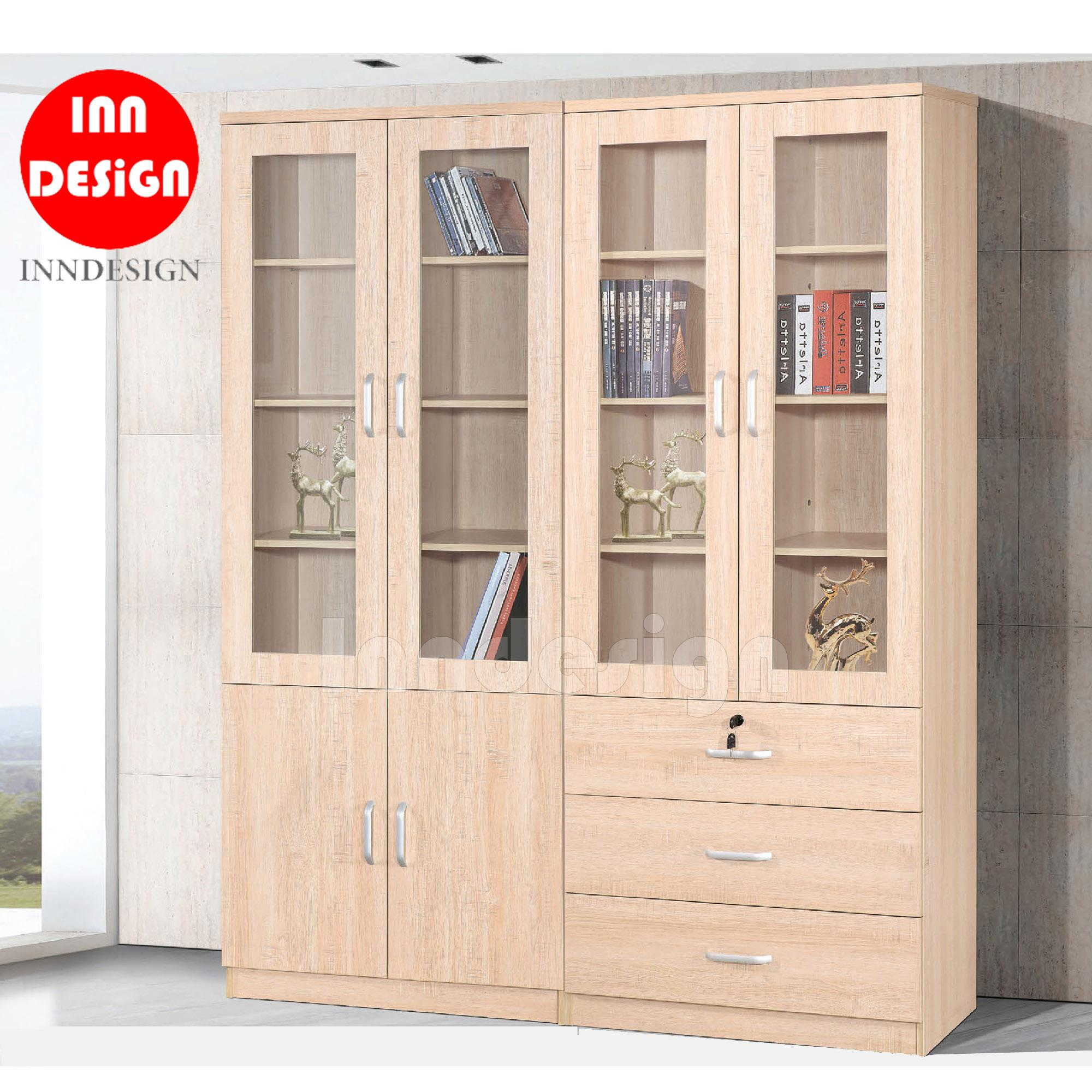 Mojitomo IV Display Bookshelf with Drawers (FULLY MDF)