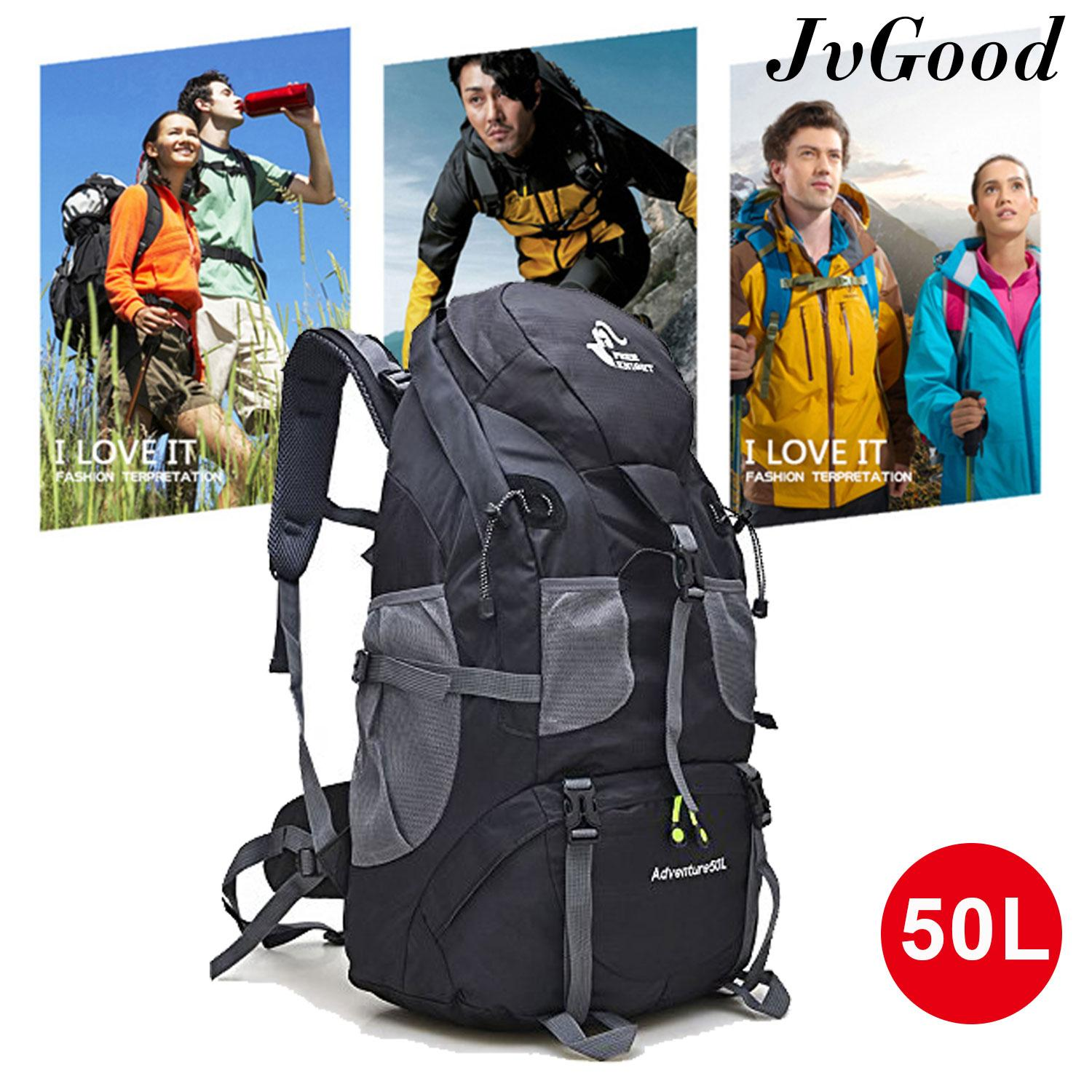 Jvgood Outdoor Hiking Backpack, 50l Hiking Daypacks Man Bag Sport Hiking Trekking Camping Travel Backpack Pack Bagpack Mountaineering Climbing Knapsack Rucksack By Jvgood