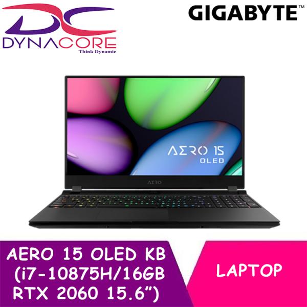 DYNACORE - GIGABYTE AERO 15 OLED KB (i7-10875H/16GB SAMSUNG DDR4 2933 (8GBx2)/GeForce RTX 2060 GDDR6 6GB/512GB M.2 PCIE SSD/15.6inch Thin Bezel Samsung 4K UHD AMOLED/WINDOWS 10 PROFESSIONAL)