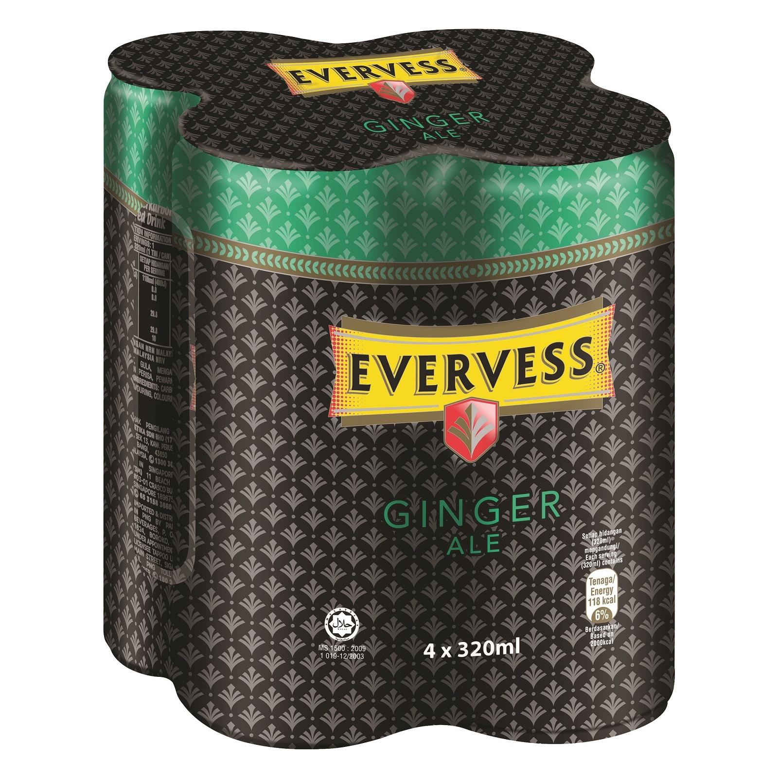 EVERVESS Ginger Ale - 4s Pack