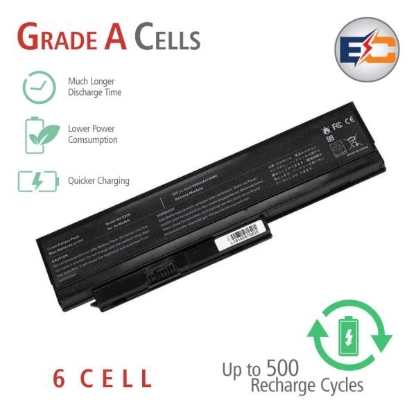 Replacement Laptop Grade A Cells Battery X230 Compatible with X230-QJ-3S2P, ThinkPad X220 Series, X220i, X220s, X230i, x230s, 42T4901, 42T4902, 42Y4940, 42Y4868, 42T4873, 42Y4874, 42T4863, 40A36282