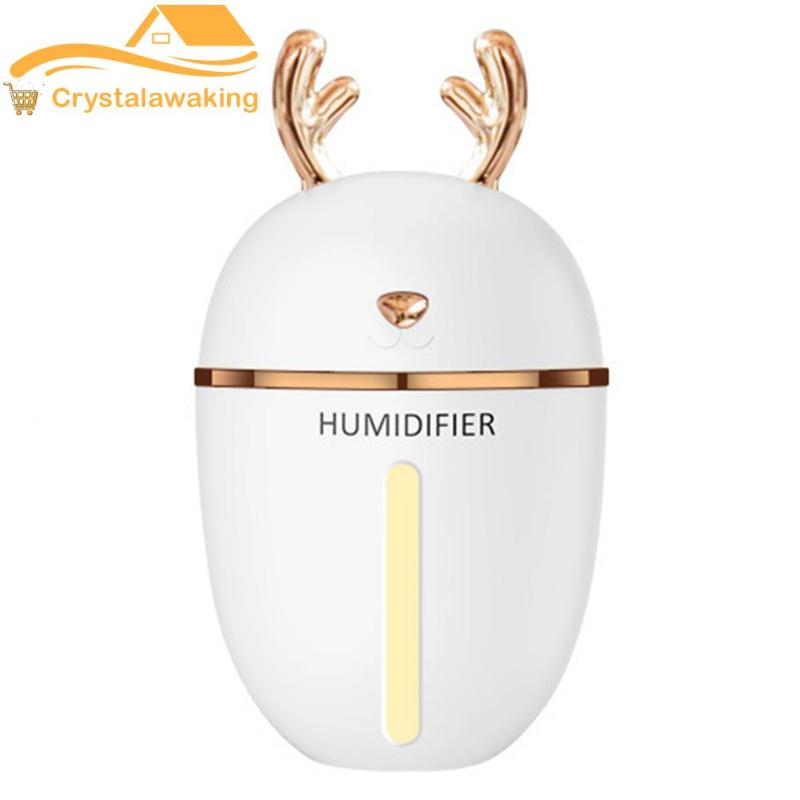 450ml Christmas Deer USB Charging Air Humidifier LED Essential Oil Diffuser Singapore