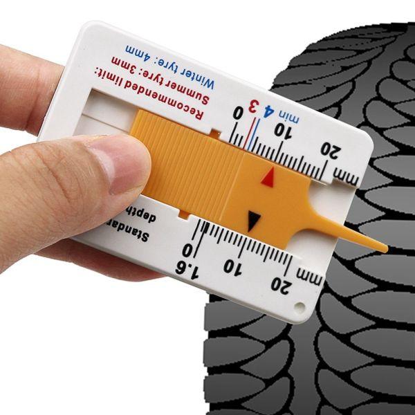 YE33040 Cầm tay Sửa chữa Cung cấp đo lường Công cụ đánh dấu Nhựa 0-20mm Độ sâu lốp xe ô tô Chỉ báo độ sâu Đo độsâu Thước đo độ sâu mẫu lốp