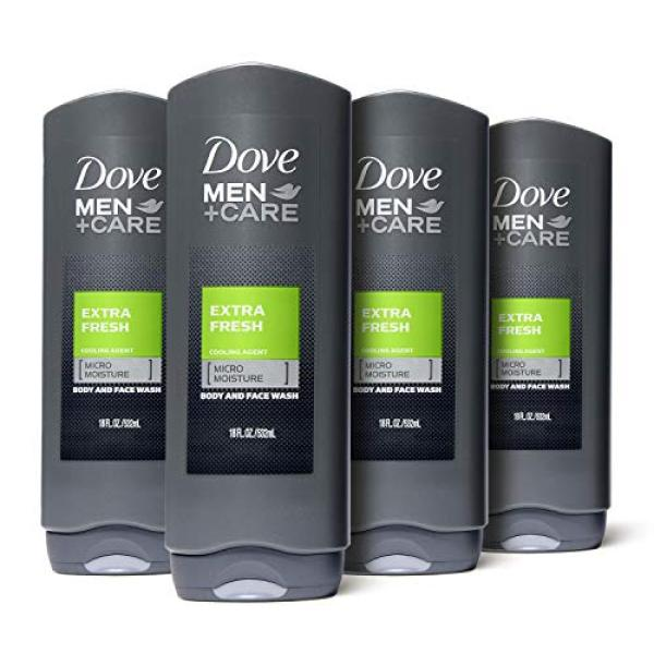 Buy (USA)Dove Men+Care Body and Face Wash, Extra Fresh 18 oz, 4 Count Singapore