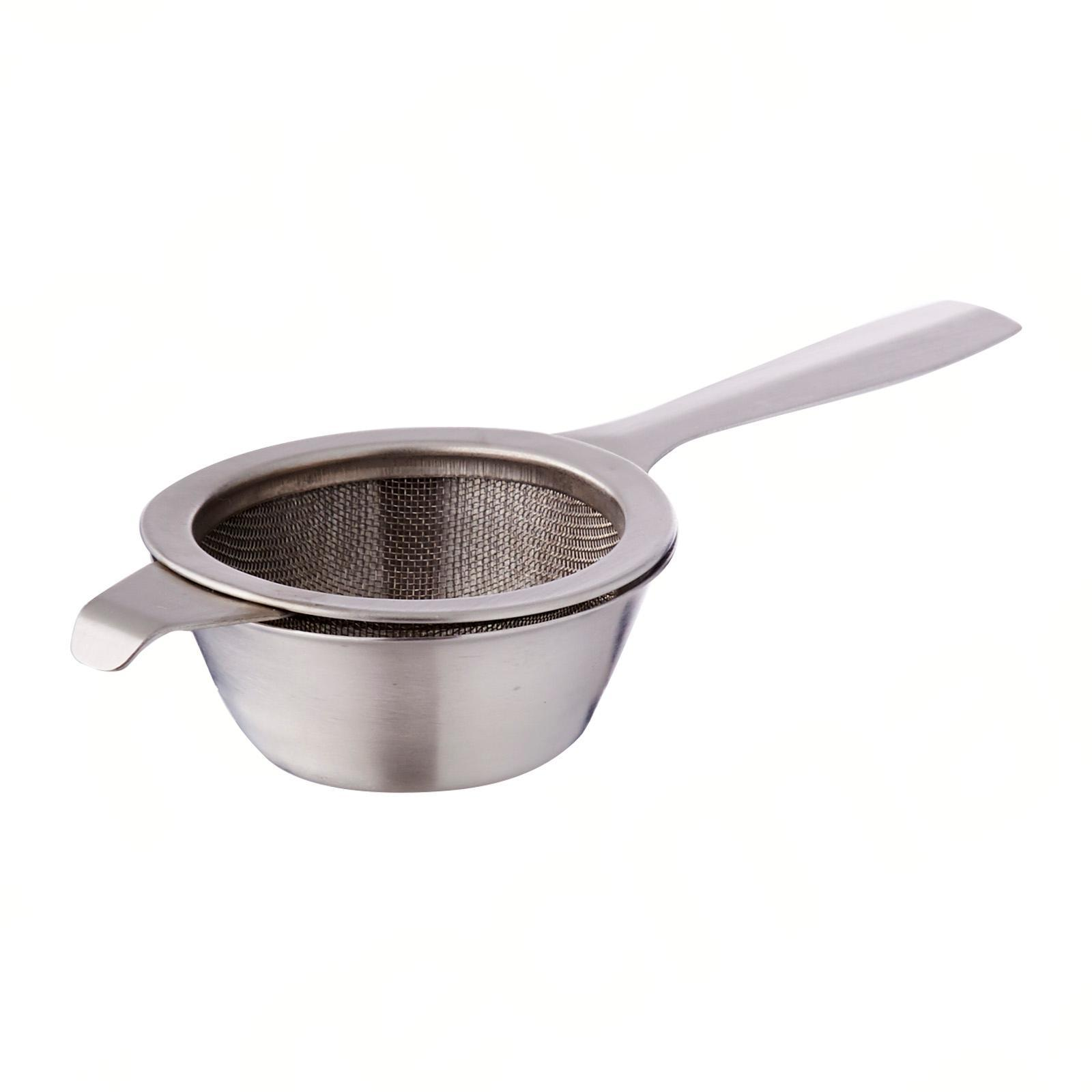 Sunnex Stainless Steel Tea Strainer With Drip Bowl