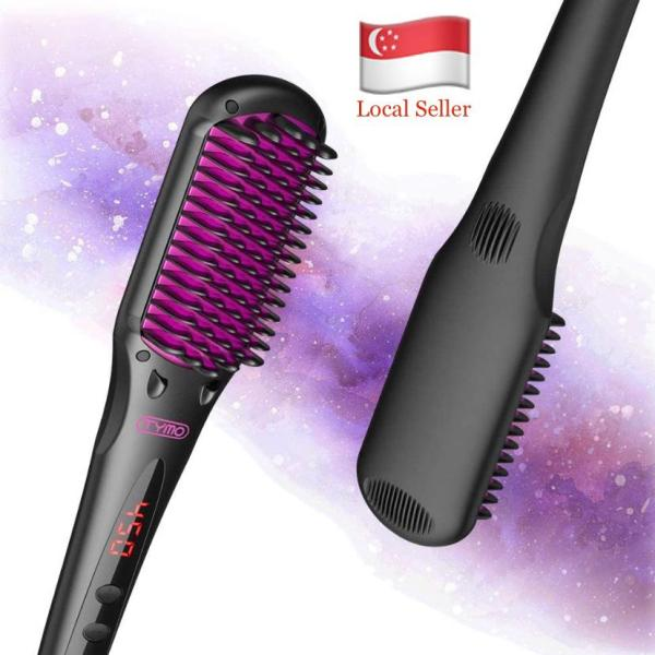 Buy TYMO iONIC Hair Straightener Brush - Enhanced Ionic Straightening Brush with 16 Heat Levels for Frizz-Free Silky Hair, Anti-Scald & Auto-Off Safe & Easy to Use, Straightening Comb for Salon at Home Support Singapore Seller Singapore