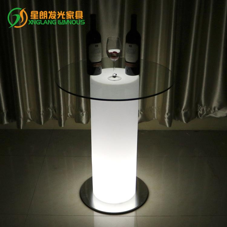 Light-emitting Furniture Bar Tables LED Luminous Desk Creative Cafe gao jiao zhuo Milk Tea Shop Round Table