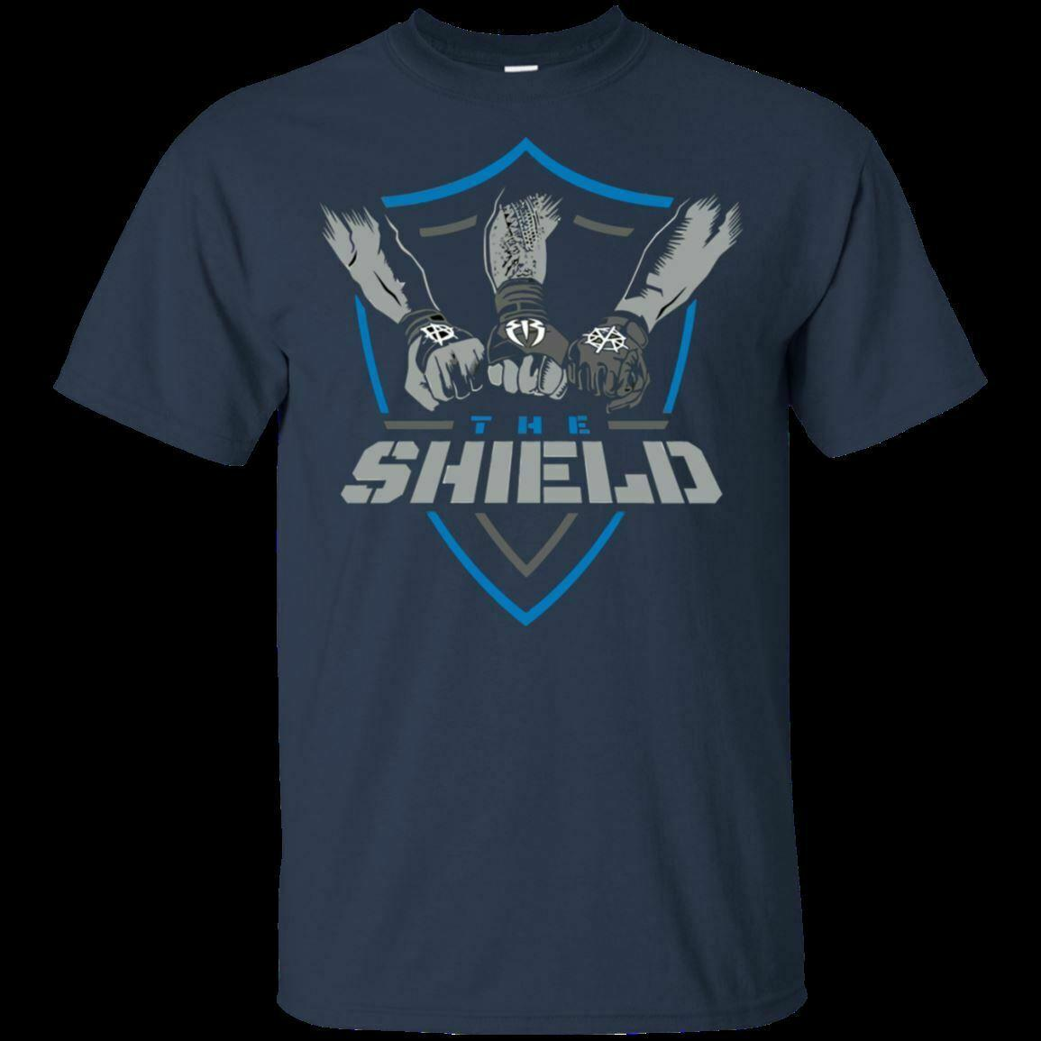 9e919ac7 Male t-shirt short sleeve WWE Shield Comback United Mens Shirt Sleeve Roman  Reigns Tee