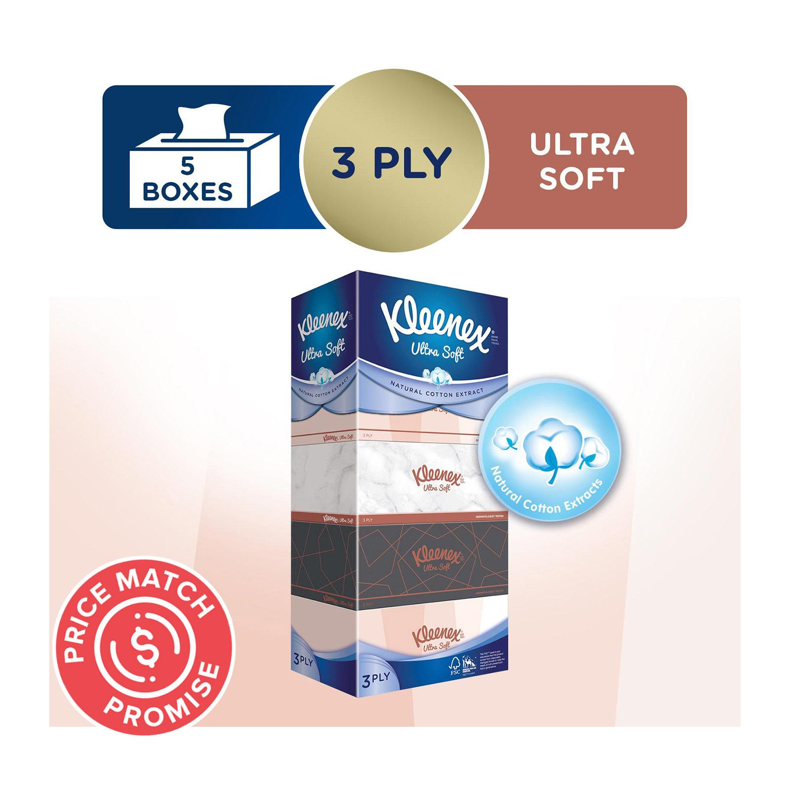 Kleenex Ultra Soft Facial Tissue Lifestyle 3-Ply