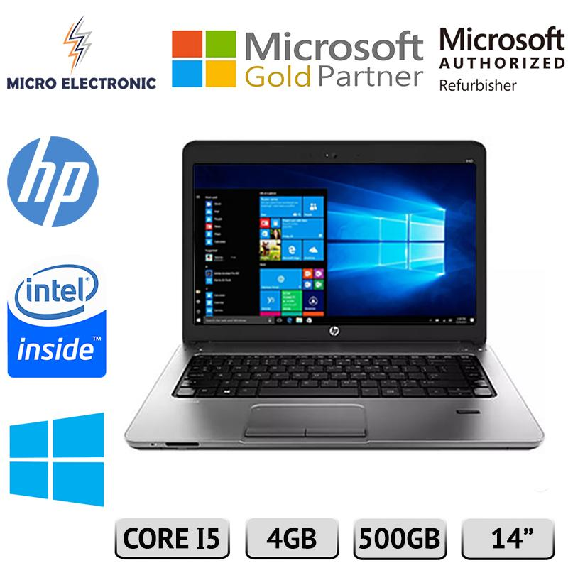 HP Probook 440 G1 Laptop Intel Core i5-4200U 2.5GHz 4GB 500GB HDD Windows 10 Refurbished PC Computer Digital Electronics