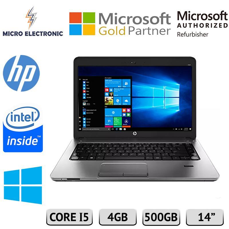 HP Probook 440 G1 Laptop Intel Core i5-4200U 2.5GHz 4GB 500GB HDD Windows 10 Refurbished PC Computer Digital Electronics
