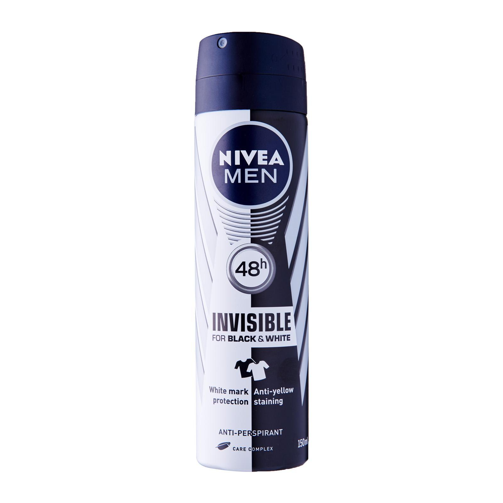 Nivea Deodorant for Men Spray Invisible Black and White (Power)