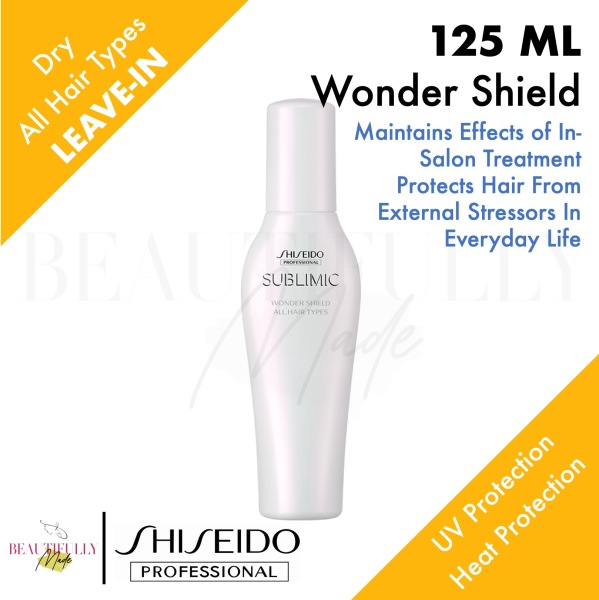 Buy Shiseido Professional Sublimic Wonder Shield 125ml - For All Hair Types In Salon Home Care • Protect Hair from External Aggressors UV Heat Protection Singapore