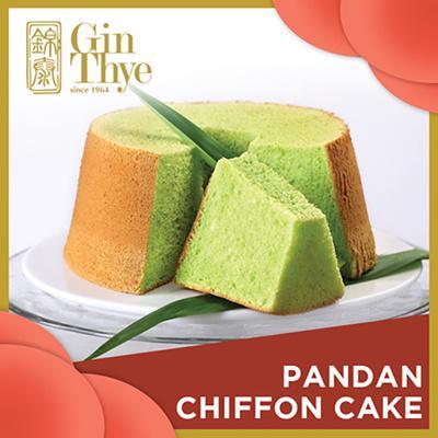 Whole Pandan Chiffon Cake 400g By Gin Thye.