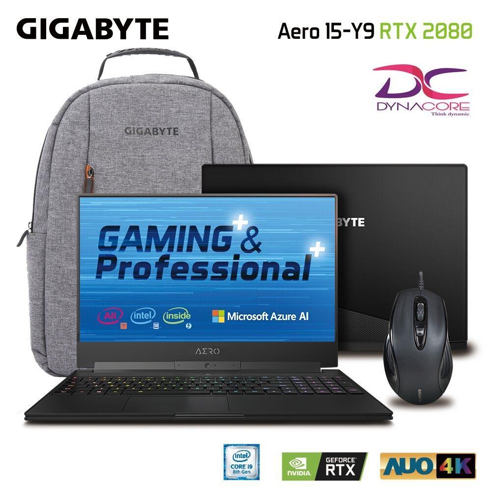 Gigabyte Aero 15Y v9 UHD 15.6 In i9-8950HK/RTX 2080 GDDR6 8GB Win10 Pro(2Y Warranty)