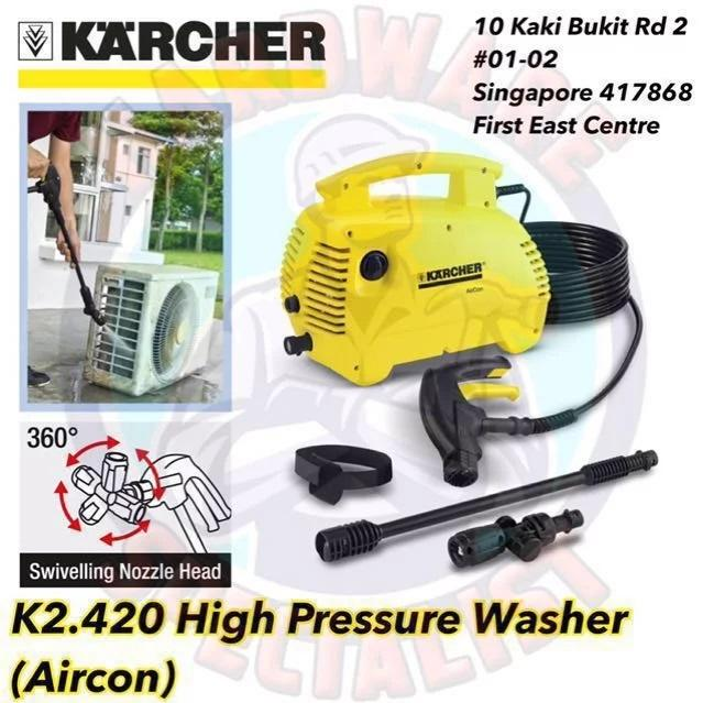 Karcher K2.420 High Pressure Washer (For Aircon Cleaning)