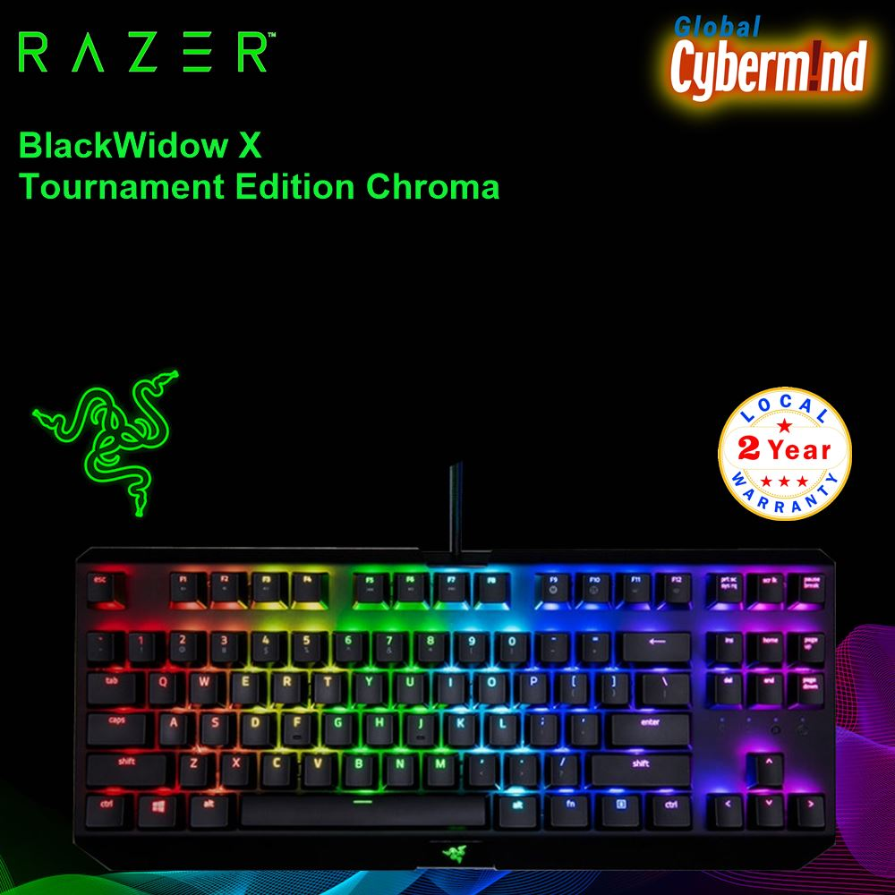 RAZER BLACKWIDOW X Tournament Edition Chroma Gaming Keyboard ( Brought to you by Cybermind ) Singapore