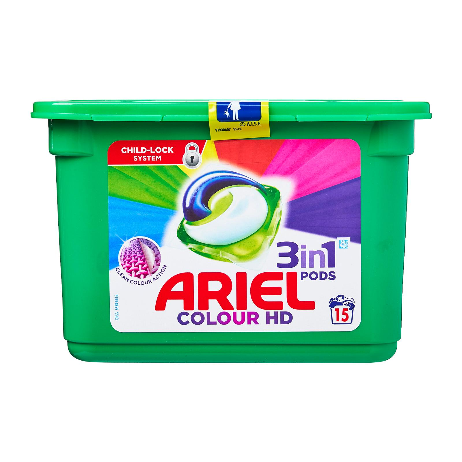 Ariel Original All in 1 Pods Washing Liquid Capsules - 15 Washes