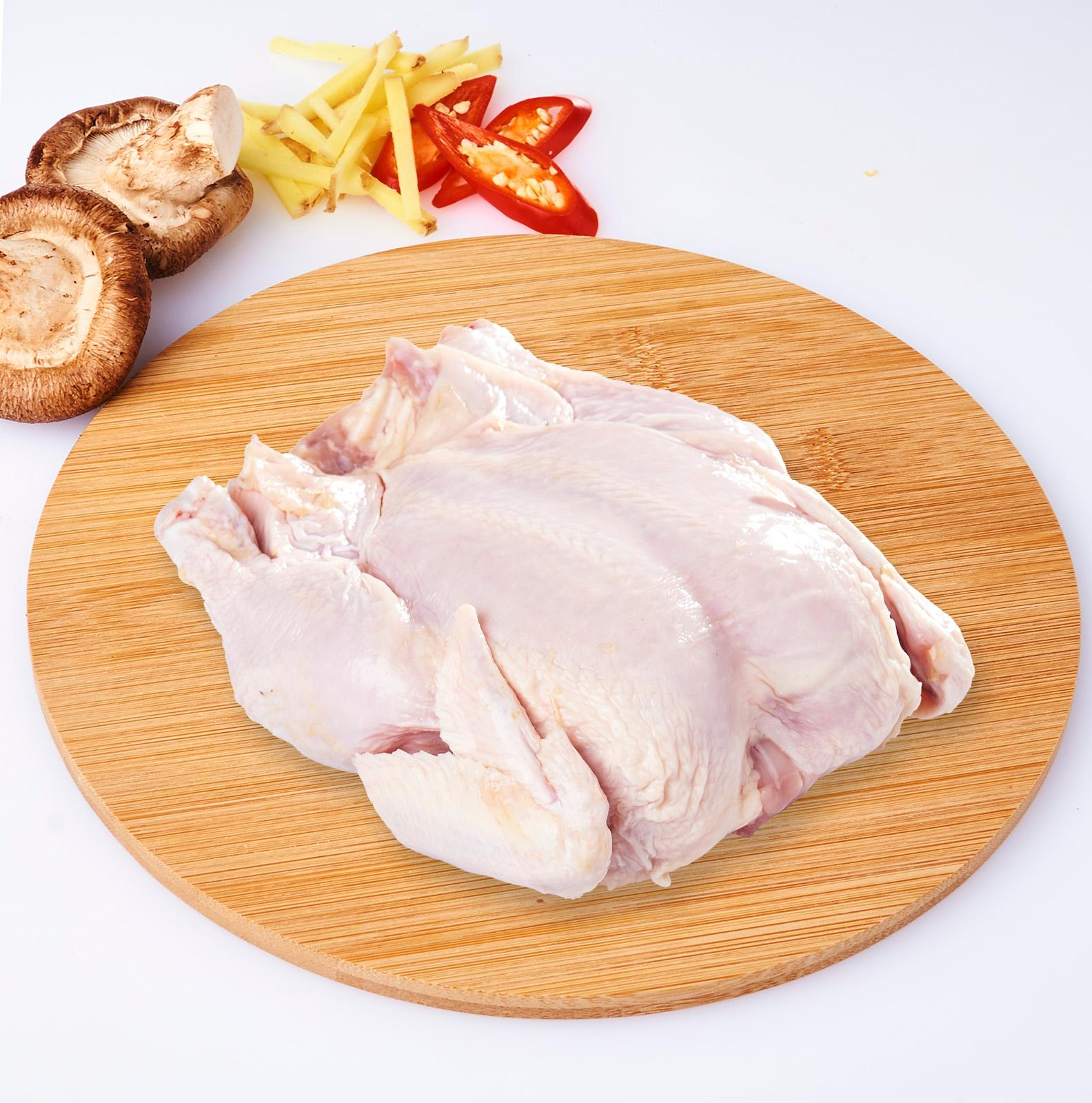 Farm Fresh Whole Chicken Medium Head Off