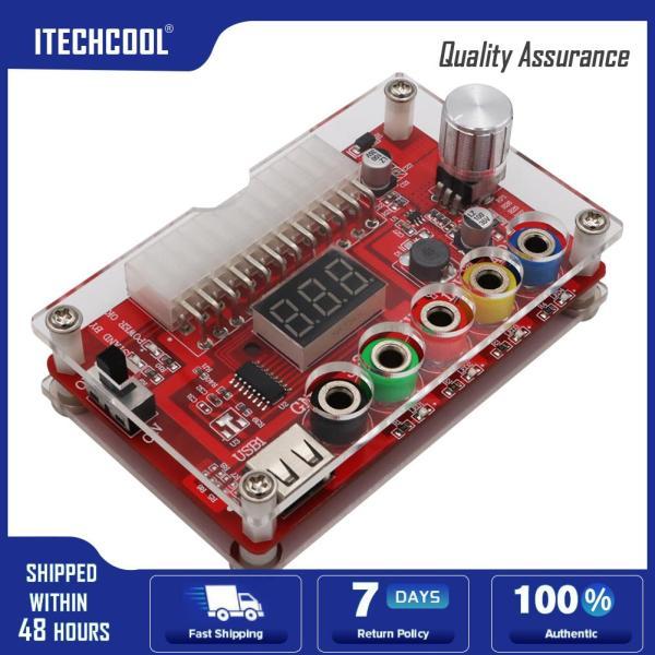 24/20-Pin ATX DC Power Supply Breakout Board Module Clear Acrylic Case Kit
