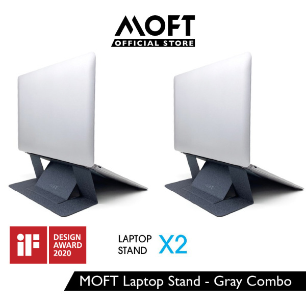 MOFT Laptop Stand Gen 2 with Heat Ventilation - Grey Combo x2