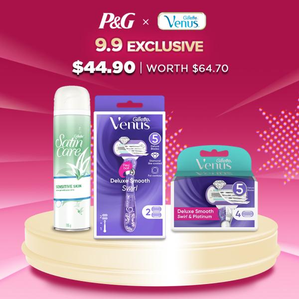 Buy [9.9 EXCLUSIVE] Gillette Venus Shave Care Set Singapore