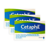 Pack Of 3 Cetaphil Gentle Cleansing Anti Bacterial Bar For Dry And Sensitive Skin 127G 5040 Singapore