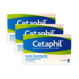 New Pack Of 3 Cetaphil Gentle Cleansing Bar For Dry And Sensitive Skin 127G 3046