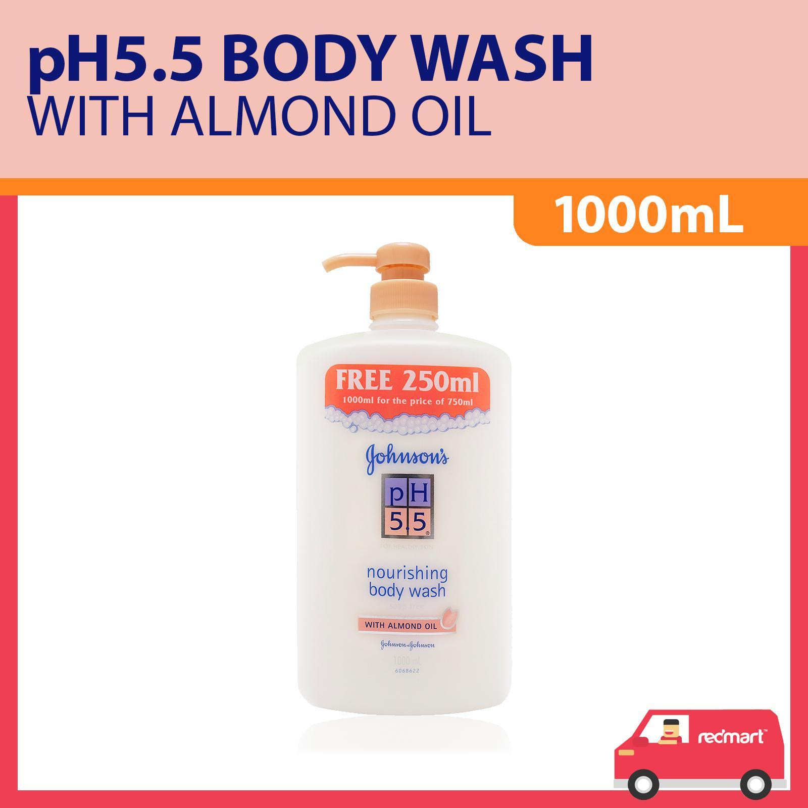 Johnson's pH 5.5 Nourishing Body Wash With Almond Oil