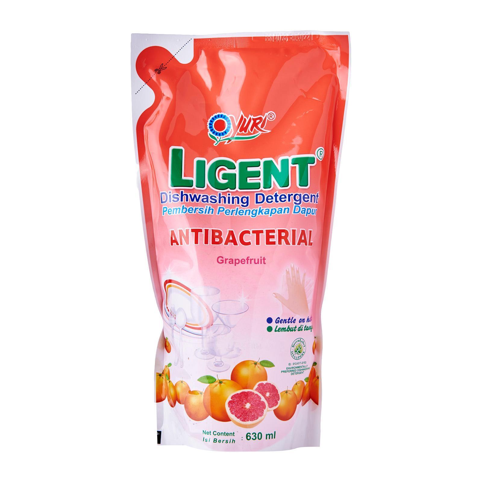 Yuri Ligent Refill Grape Fruit Dishwashing Detergent. 630 ml