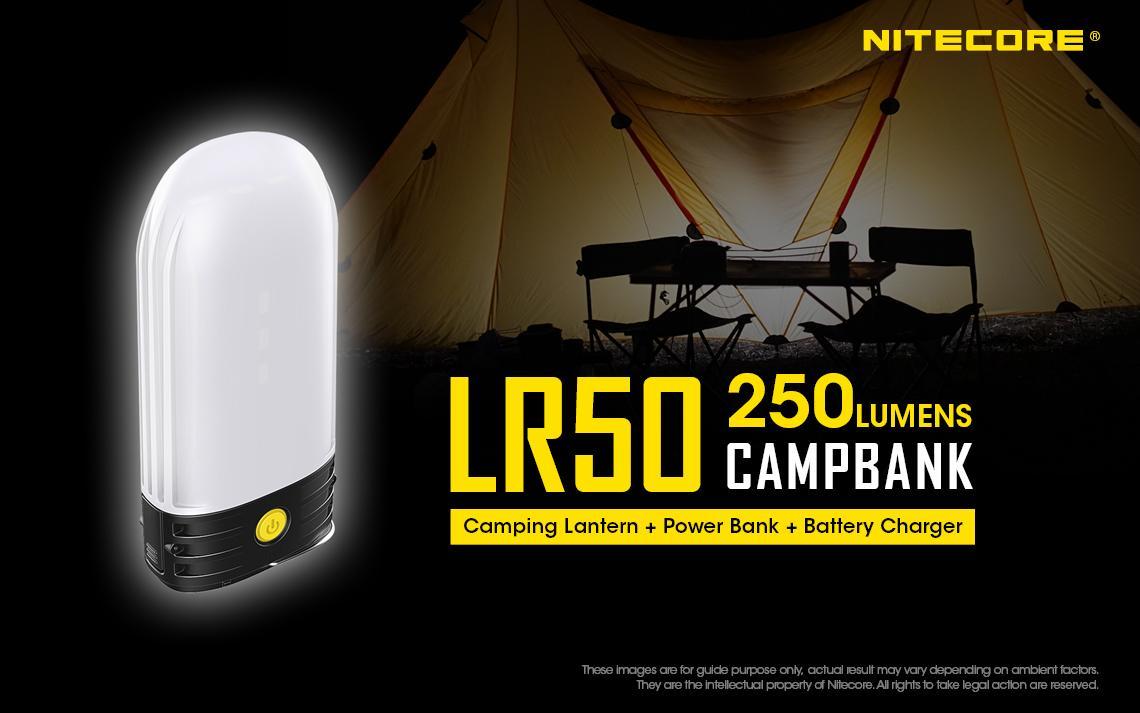 Nitecore LR50 250 Lumens 3-in-1 Compact Camping Lantern