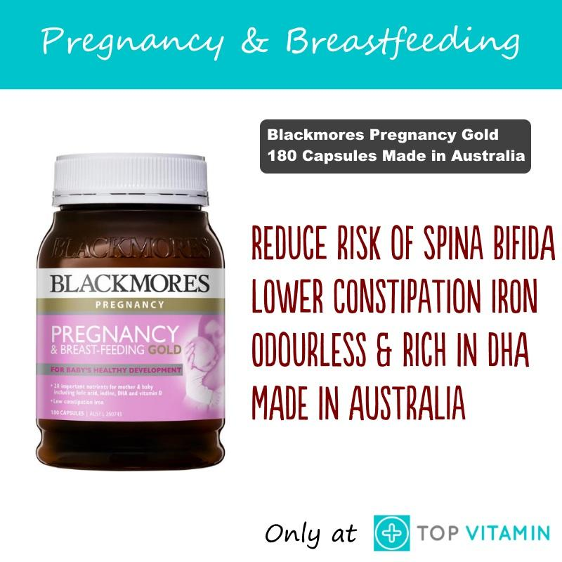Blackmores Pregnancy & Breastfeeding Gold 180 Capsules By Top Vitamin.
