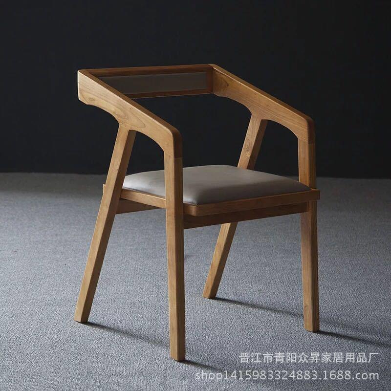 Modern Minimalist Office Furniture Library Desk Learning Writing Desk Household Solid Wood Iron Art Computer Tables And Chairs Combination