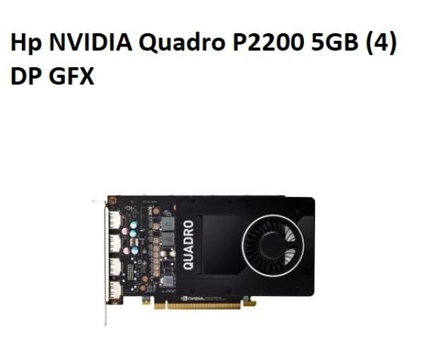 Hp NVIDIA Quadro P2200 5GB (4)DP GFX