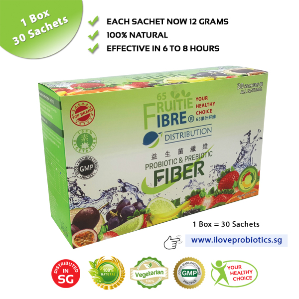 Buy Probiotic & Prebiotic Fiber - 30 Sachets (100% Natural Fruit Pre & Probiotics For Immunity and Constipation Support) - Singapore Distributor Singapore