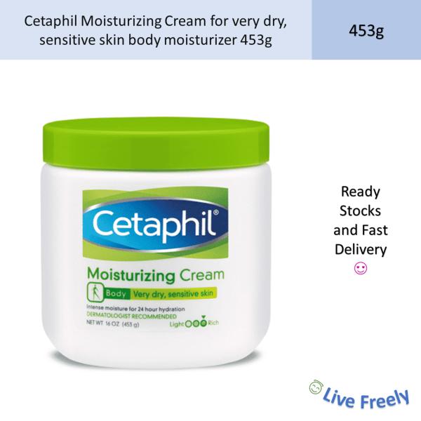 Buy Cetaphil Moisturizing Cream for very dry, sensitive skin body moisturizer 453g Singapore
