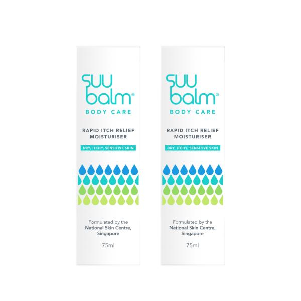 Buy Suu Balm Rapid Itch Relief Moisturiser 75ml x 2 Singapore