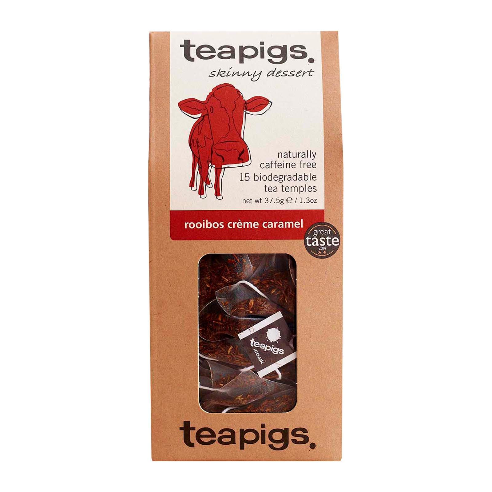 Teapigs 15 X Rooibos Creme Caramel Temples
