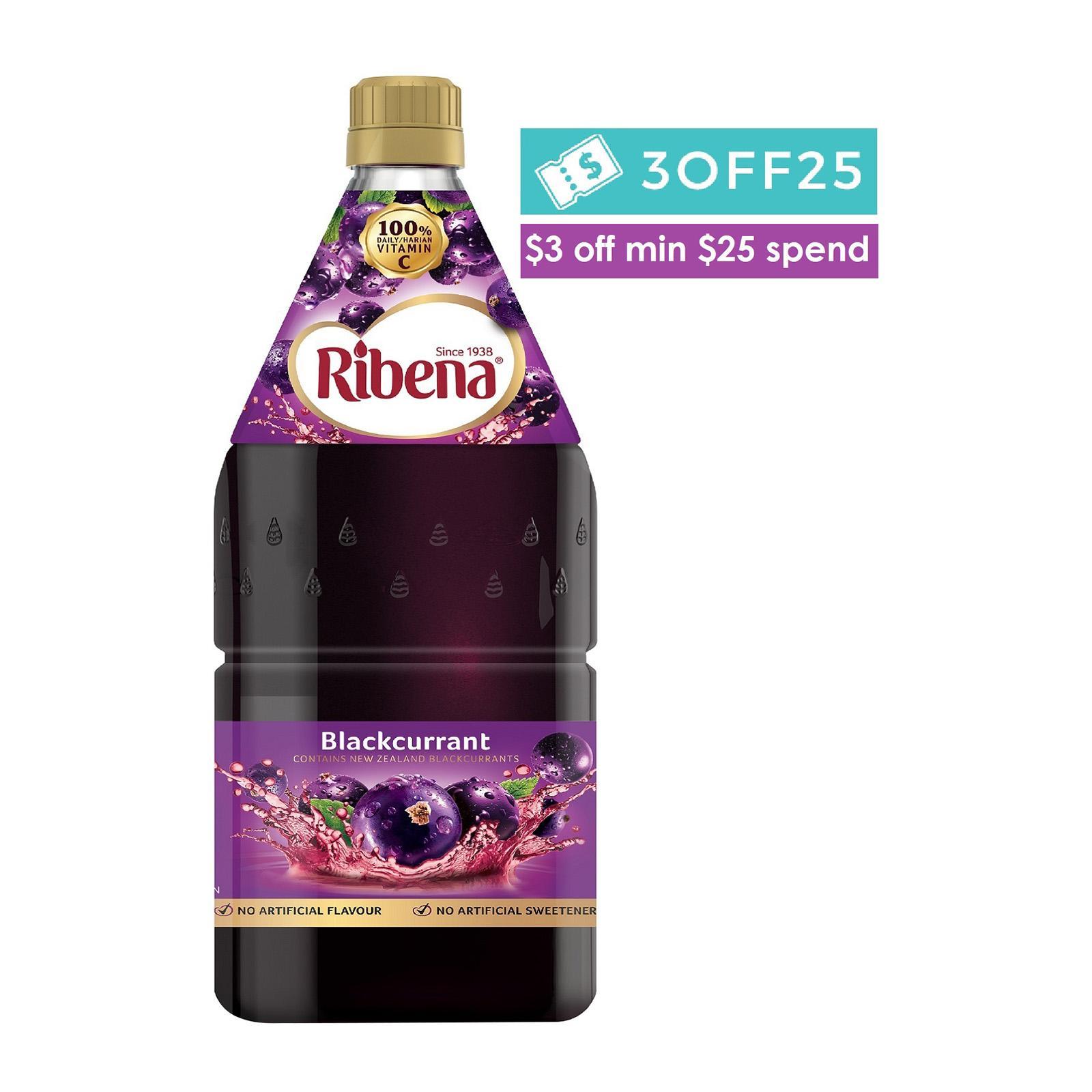 RIBENA Blackcurrant Juice Cordial 2L