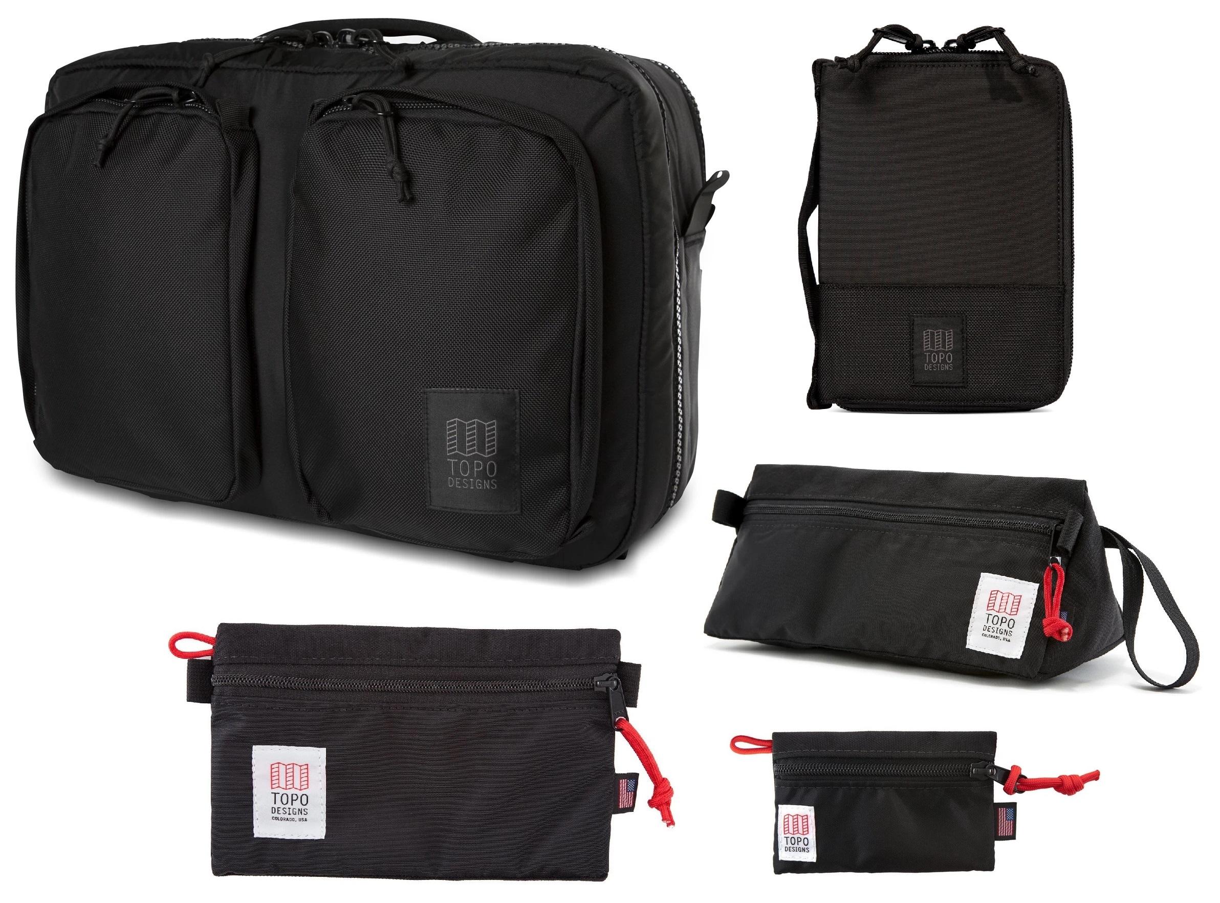TOPO DESIGNS Global Briefcase 3-Days Kit (BLACK)