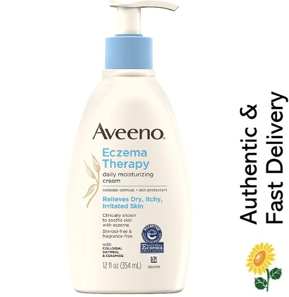 Buy [SG] Aveeno, Eczema Therapy Daily Moisturizing Cream for Sensitive Skin, Steroid-free and Fragrance-Free Singapore