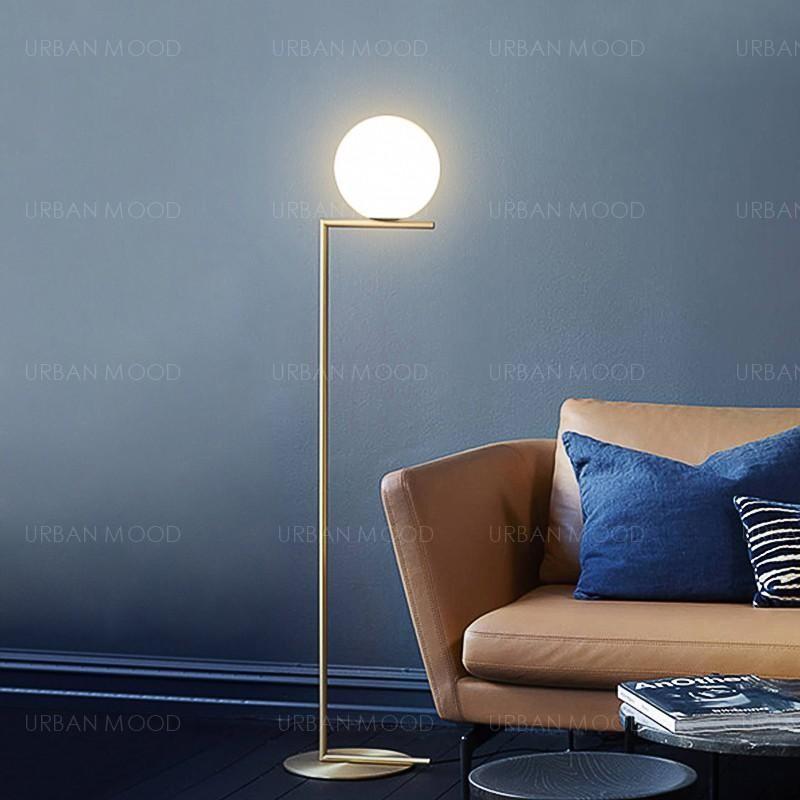 DORSET Minimalist Round LED Standing Lamp